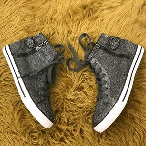 Guess high top sparkle sneakers sz 9